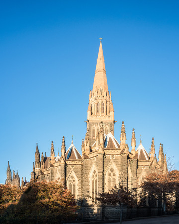 one of melbourne many historic churches on a bright sunnt morning