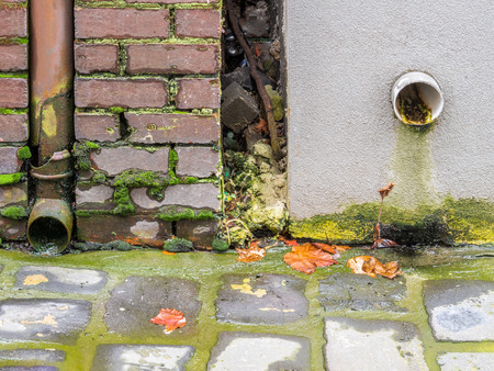 Leaking and broken down pipe on a Melbourne building