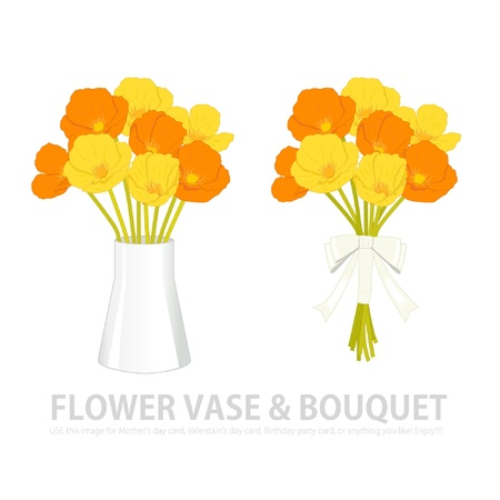 papaver: flower vase   bouquet