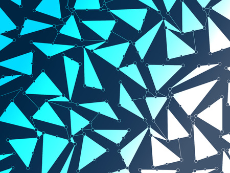 Pattern with blue triangles. Abstract background photo