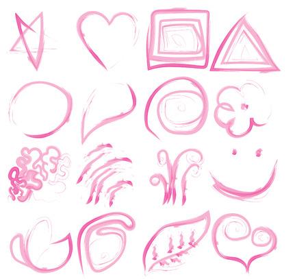 Set of vector . Sketchy frames. Back to school notebook ink drawing. Design elements