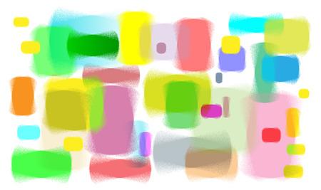 memorise: colourful spray lines of blank