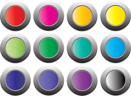 cycle colour botton with isolated white background Vector