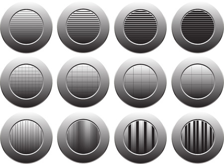 bottons: black and gray bottons on white background