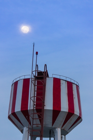Water Tower at night photo
