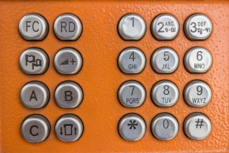 Number keys on orange background photo