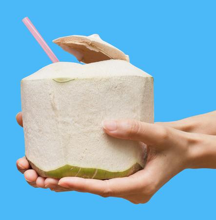 good health: Drinking coconut water for good health  Stockfoto