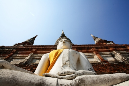 ayuthaya: Buddha of ayuthaya Stock Photo