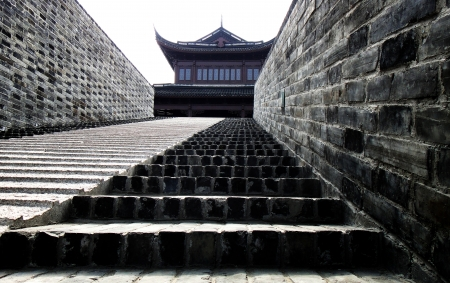 China great wall stair Stock Photo - 16652504