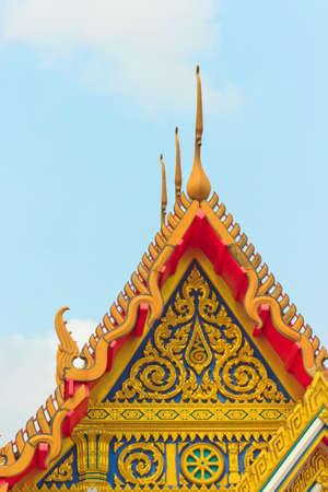 Thai art decorating on temple roof