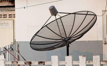 Satellite installation on the ground to communication