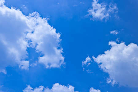 Blue Sky with Clouds, Thailand Stock Photo