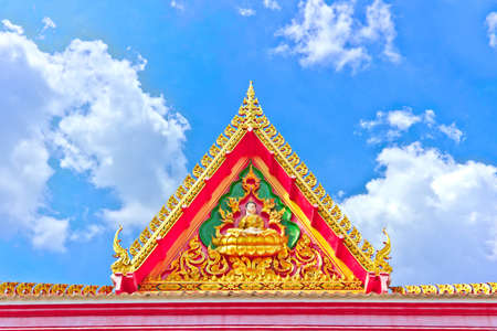 Beautiful Golden Thai Temple Stock Photo
