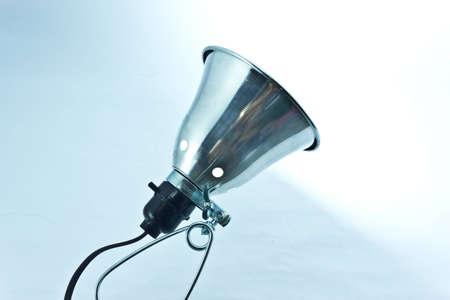 White Light Beam from Clamp Lamp