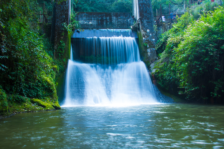 Hydropower Waterfall Stock Photo