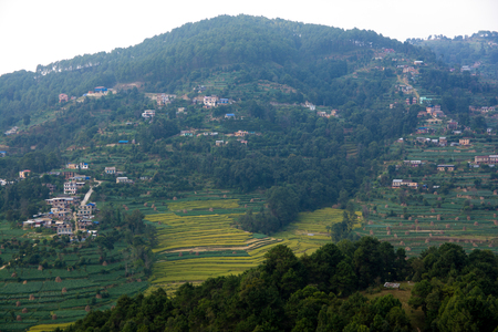 Village hill from nepal Stock Photo
