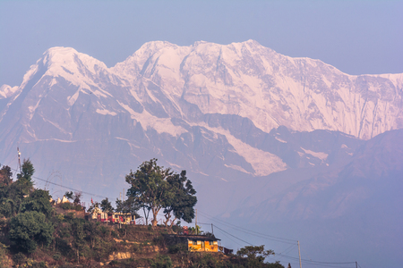 Annapurna Machapuchre (Fish Tail) Mountain view from pokhara