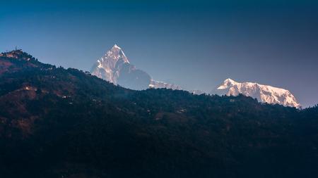 Mountain peak Annapurna View from Pokhara city , Nepal