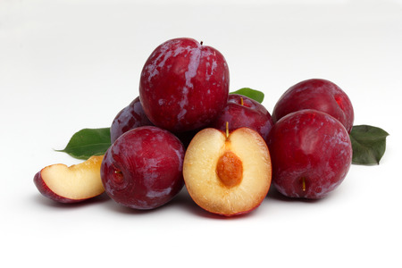 ve: plum on a white background
