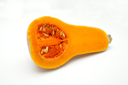 Japanese pumpkin on a white background,