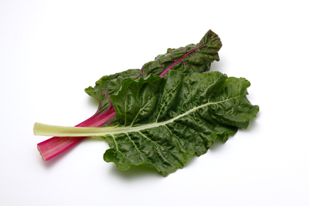 fresh swiss chard on a white background Stock Photo