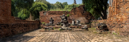 Ancient Buddha statue panoramic in the temple