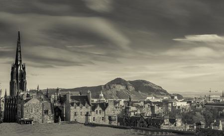 Beautiful view Edinburgh castle