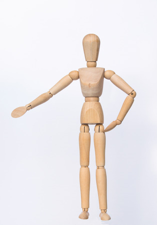 similitude: emotion marionette,wood body model,Wood model human in white background,isolated marionette