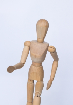 emotion marionette,wood body model,Wood model human in white background,isolated marionette photo