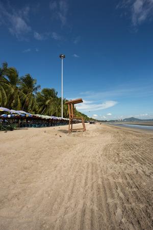 life guard chair at Bangsaen beach in Chonburi Thailand
