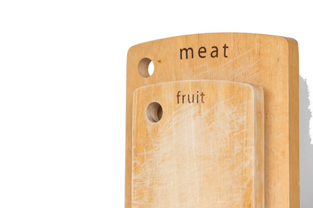 chopping block in kitchen and special for fruit,meat and vegetables photo