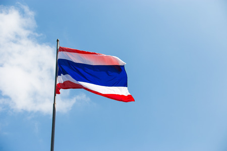thailander: Flag of Thailand, country in south east of asia.