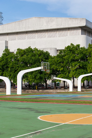 basketball court in high school photo