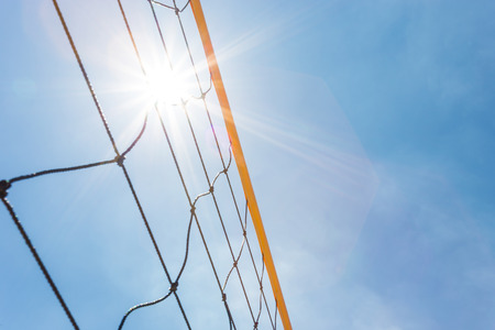 volleyball net with clear sky
