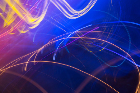 long exposure: light effect backgroud in the party this picture was taken with long exposure technique Stock Photo