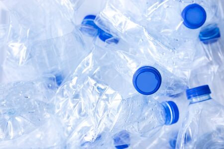empty plastic water bottle from polyethylene by human in waste pollution for recycle and reusable package concept plastic recycle world material industrial for ecology and environment Standard-Bild