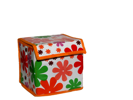 crates: Storage box with a pattern on a white background.