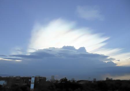 atmosfera: El cielo atmósfera Mientras que va a llover