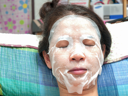 facial features: Woman with beautiful facial features. Stock Photo