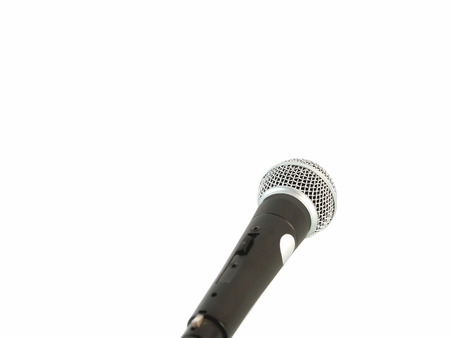 improved: Microphones, used for improved sound. Stock Photo
