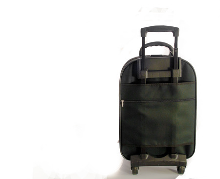 leather bag: Luggage, large traveling in remote or overseas. Stock Photo