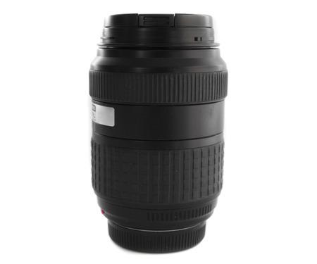 telephoto: Camera lens, on white background. Stock Photo