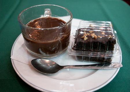 sweet treats: Hot coffee and sweet treats