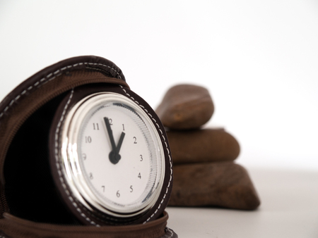 advances: Clock, date, time, advances in each day. Stock Photo