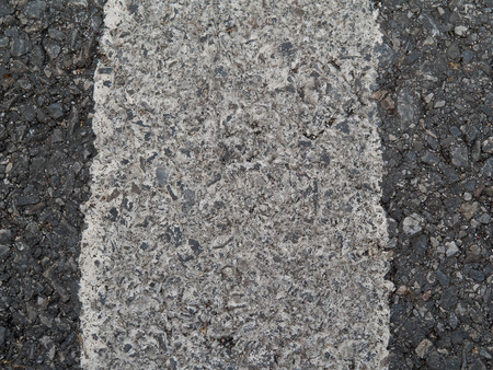 road surface: Traffic lines ,white  line painted on the road surface. Stock Photo