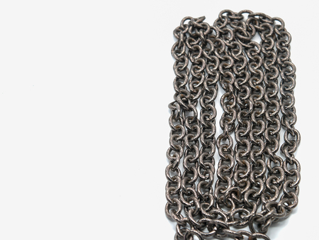 iron chain: iron Chain , Placed on a white background
