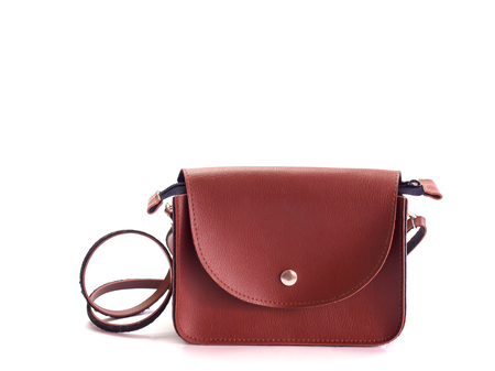leather bag Brown , The beauty of women's fashion 写真素材