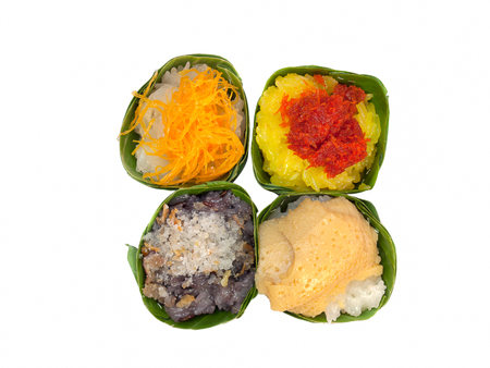custard flavor: Sweet sticky rice with shrimp topping , and others