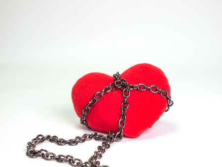 bondage: Heart ,With chain , are synonymous with our love.