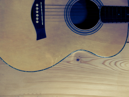 classical guitar: Classical guitar in retro grunge image background